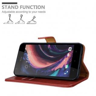 Cadorabo Hülle für HTC Desire 10 Lifestyle / Desire 825 in WEIN ROT - Handyhülle mit Magnetverschluss, Standfunktion und Kartenfach - Case Cover Schutzhülle Etui Tasche Book Klapp Style - Vorschau 4
