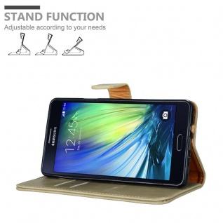 Cadorabo Hülle für Samsung Galaxy A7 2015 in CAPPUCCINO BRAUN - Handyhülle mit Magnetverschluss, Standfunktion und Kartenfach - Case Cover Schutzhülle Etui Tasche Book Klapp Style - Vorschau 4