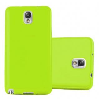 Cadorabo Hülle für Samsung Galaxy NOTE 3 in JELLY GRÜN ? Handyhülle aus flexiblem TPU Silikon ? Silikonhülle Schutzhülle Ultra Slim Soft Back Cover Case Bumper
