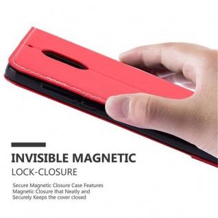 Cadorabo Hülle für Nokia 6 2017 in ROT SCHWARZ ? Handyhülle mit Magnetverschluss, Standfunktion und Kartenfach ? Case Cover Schutzhülle Etui Tasche Book Klapp Style - Vorschau 4