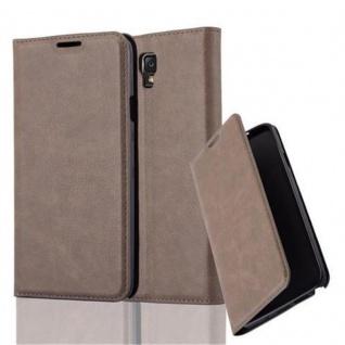 Cadorabo Hülle für Samsung Galaxy NOTE 3 NEO in KAFFEE BRAUN - Handyhülle mit Magnetverschluss, Standfunktion und Kartenfach - Case Cover Schutzhülle Etui Tasche Book Klapp Style