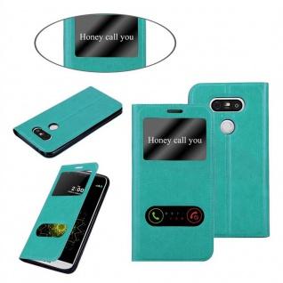 Cadorabo Hülle für LG G5 in MINT TÜRKIS - Handyhülle mit Magnetverschluss, Standfunktion und 2 Sichtfenstern - Case Cover Schutzhülle Etui Tasche Book Klapp Style - Vorschau 3