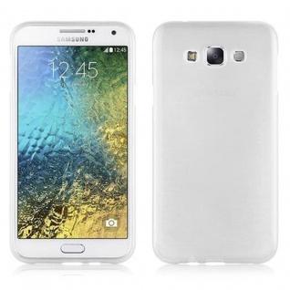 Cadorabo Hülle für Samsung Galaxy E7 2015 in SILBER - Handyhülle aus flexiblem TPU Silikon - Silikonhülle Schutzhülle Ultra Slim Soft Back Cover Case Bumper