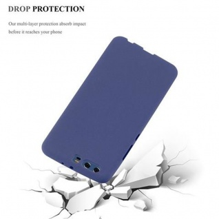 Cadorabo Hülle für Huawei P10 PLUS in FROST DUNKEL BLAU - Handyhülle aus flexiblem TPU Silikon - Silikonhülle Schutzhülle Ultra Slim Soft Back Cover Case Bumper - Vorschau 4
