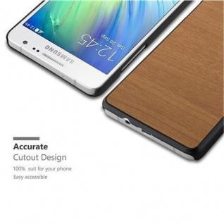 Cadorabo Hülle für Samsung Galaxy A3 2015 in WOODY BRAUN - Hardcase Handyhülle aus Plastik gegen Kratzer und Stöße - Schutzhülle Bumper Ultra Slim Back Case Hard Cover - Vorschau 3