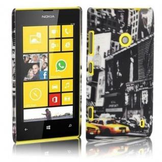 Cadorabo - Hard Cover für Nokia Lumia 520 - Case Cover Schutzhülle Bumper im Design: NEW YORK CAB