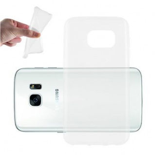 Cadorabo Hülle für Samsung Galaxy S7 in VOLL TRANSPARENT - Handyhülle aus flexiblem TPU Silikon - Silikonhülle Schutzhülle Ultra Slim Soft Back Cover Case Bumper