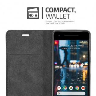 Cadorabo Hülle für Google Pixel 2 in KAFFEE BRAUN - Handyhülle mit Magnetverschluss, Standfunktion und Kartenfach - Case Cover Schutzhülle Etui Tasche Book Klapp Style - Vorschau 5