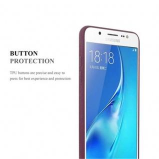 Cadorabo Hülle für Samsung Galaxy J5 2016 in FROST BORDEAUX LILA - Handyhülle aus flexiblem TPU Silikon - Silikonhülle Schutzhülle Ultra Slim Soft Back Cover Case Bumper - Vorschau 2