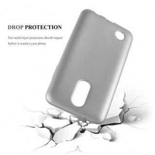 Cadorabo Hülle für LG K4 2017 in METALLIC SILBER - Handyhülle aus flexiblem TPU Silikon - Silikonhülle Schutzhülle Ultra Slim Soft Back Cover Case Bumper - Vorschau 3