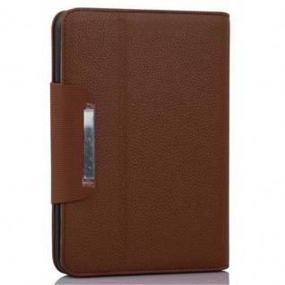 """Cadorabo Hülle für Kindle Fire HD (7, 0"""" Zoll) - Hülle in MARONEN BRAUN ? Schutzhülle mit Standfunktion und Kartenfach - Book Style Etui Bumper Case Cover - Vorschau 2"""
