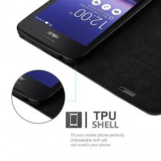 Cadorabo Hülle für Asus ZenFone 5 2014 in NACHT SCHWARZ - Handyhülle mit Magnetverschluss, Standfunktion und Kartenfach - Case Cover Schutzhülle Etui Tasche Book Klapp Style - Vorschau 3