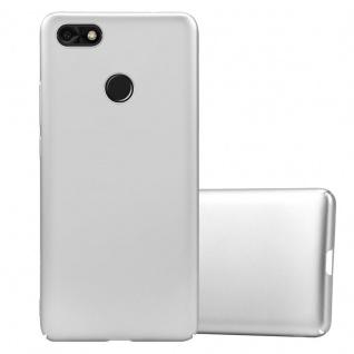 Cadorabo Hülle für Huawei Y6 2 PRO 2017 in METALL SILBER Hardcase Handyhülle aus Plastik gegen Kratzer und Stöße Schutzhülle Bumper Ultra Slim Back Case Hard Cover