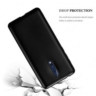 Cadorabo Hülle für Nokia 8 2017 in METALLIC SCHWARZ - Handyhülle aus flexiblem TPU Silikon - Silikonhülle Schutzhülle Ultra Slim Soft Back Cover Case Bumper - Vorschau 3