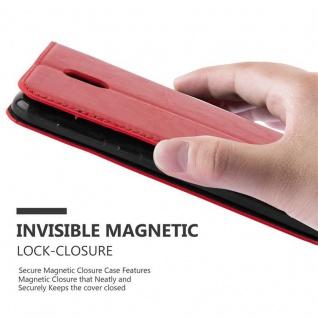 Cadorabo Hülle für Nokia 2 2017 in APFEL ROT - Handyhülle mit Magnetverschluss, Standfunktion und Kartenfach - Case Cover Schutzhülle Etui Tasche Book Klapp Style - Vorschau 5