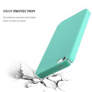 Cadorabo Hülle für Apple iPhone 5 / iPhone 5S / iPhone SE in FROSTY GRÜN - Hardcase Handyhülle aus Plastik gegen Kratzer und Stöße - Schutzhülle Bumper Ultra Slim Back Case Hard Cover - Vorschau 4