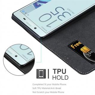 Cadorabo Hülle für Sony Xperia X Compact in SCHWARZ BRAUN ? Handyhülle mit Magnetverschluss, Standfunktion und Kartenfach ? Case Cover Schutzhülle Etui Tasche Book Klapp Style