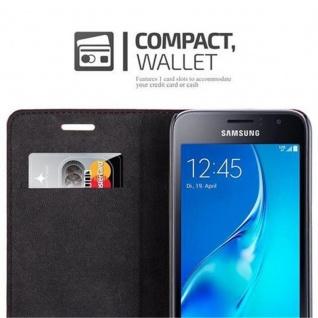 Cadorabo Hülle für Samsung Galaxy J1 2016 in APFEL ROT - Handyhülle mit Magnetverschluss, Standfunktion und Kartenfach - Case Cover Schutzhülle Etui Tasche Book Klapp Style - Vorschau 5