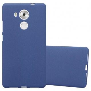 Cadorabo Hülle für Huawei MATE 8 in FROST DUNKEL BLAU - Handyhülle aus flexiblem TPU Silikon - Silikonhülle Schutzhülle Ultra Slim Soft Back Cover Case Bumper