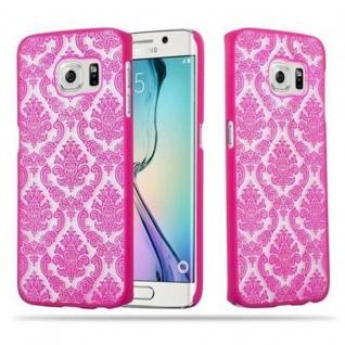 Samsung Galaxy S6 EDGE Hardcase Hülle in PINK von Cadorabo - Blumen Paisley Henna Design Schutzhülle ? Handyhülle Bumper Back Case Cover