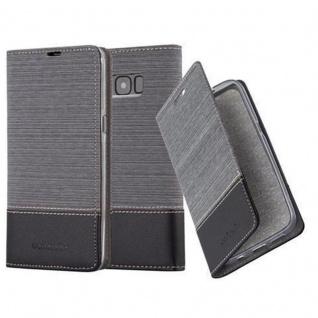 Cadorabo Hülle für Samsung Galaxy S8 in GRAU SCHWARZ Handyhülle mit Magnetverschluss, Standfunktion und Kartenfach Case Cover Schutzhülle Etui Tasche Book Klapp Style