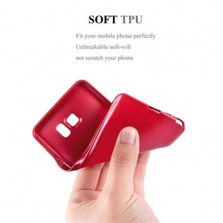 Cadorabo Hülle für Samsung Galaxy NOTE 5 in METALLIC ROT - Handyhülle aus flexiblem TPU Silikon - Silikonhülle Schutzhülle Ultra Slim Soft Back Cover Case Bumper - Vorschau 5