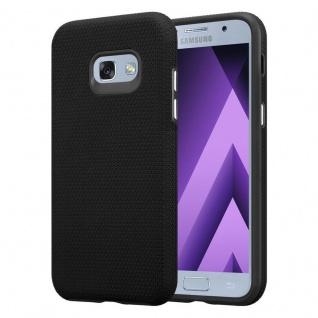 Cadorabo Hülle für Samsung Galaxy A5 2017 in DAHLIEN SCHWARZ ? Outdoor Handyhülle mit extra Grip Anti Rutsch Oberfläche im Triangle Design aus Silikon und Kunststoff - Schutzhülle Hybrid Hardcase Back Case