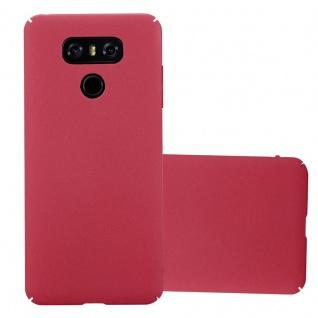 Cadorabo Hülle für LG G6 in FROSTY ROT - Hardcase Handyhülle aus Plastik gegen Kratzer und Stöße - Schutzhülle Bumper Ultra Slim Back Case Hard Cover