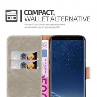 Cadorabo Hülle für Samsung Galaxy S8 PLUS in CAPPUCCINO BRAUN ? Handyhülle mit Magnetverschluss, Standfunktion und Kartenfach ? Case Cover Schutzhülle Etui Tasche Book Klapp Style - Vorschau 4