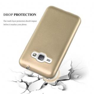 Cadorabo Hülle für Samsung Galaxy J1 2016 in METALLIC GOLD - Handyhülle aus flexiblem TPU Silikon - Silikonhülle Schutzhülle Ultra Slim Soft Back Cover Case Bumper - Vorschau 4