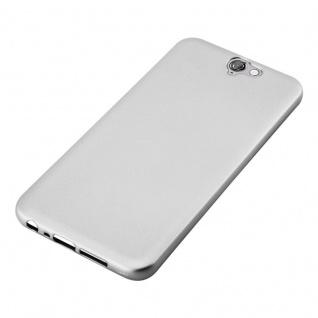 Cadorabo Hülle für HTC ONE A9 in METALLIC SILBER - Handyhülle aus flexiblem TPU Silikon - Silikonhülle Schutzhülle Ultra Slim Soft Back Cover Case Bumper - Vorschau 4