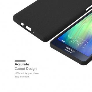 Cadorabo Hülle für Samsung Galaxy A7 2015 in FROST SCHWARZ - Handyhülle aus flexiblem TPU Silikon - Silikonhülle Schutzhülle Ultra Slim Soft Back Cover Case Bumper - Vorschau 3