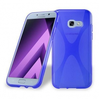 Cadorabo Hülle für Samsung Galaxy A3 2017 in ROYAL BLAU ? Handyhülle aus flexiblem TPU Silikon ? Silikonhülle Schutzhülle Ultra Slim Soft Back Cover Case Bumper