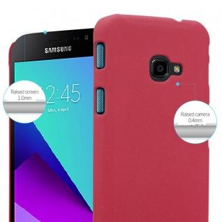 Cadorabo Hülle für Samsung Galaxy XCover 4 in FROSTY ROT - Hardcase Handyhülle aus Plastik gegen Kratzer und Stöße - Schutzhülle Bumper Ultra Slim Back Case Hard Cover - Vorschau 4