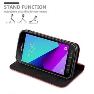 Cadorabo Hülle für Samsung Galaxy XCover 4 in APFEL ROT - Handyhülle mit Magnetverschluss, Standfunktion und Kartenfach - Case Cover Schutzhülle Etui Tasche Book Klapp Style - Vorschau 4
