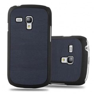 Cadorabo Hülle für Samsung Galaxy S3 MINI in WOODY BLAU - Hardcase Handyhülle aus Plastik gegen Kratzer und Stöße - Schutzhülle Bumper Ultra Slim Back Case Hard Cover