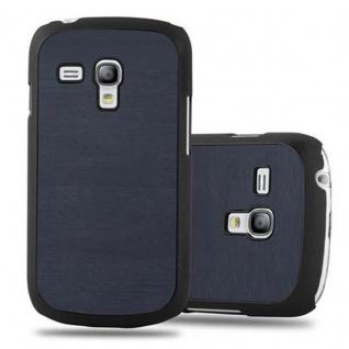 Cadorabo Hülle für Samsung Galaxy S3 MINI in WOODY BLAU Hardcase Handyhülle aus Plastik gegen Kratzer und Stöße Schutzhülle Bumper Ultra Slim Back Case Hard Cover