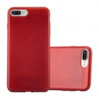 Cadorabo Hülle für Apple iPhone 8 PLUS / iPhone 7 PLUS / iPhone 7S PLUS in ROT Handyhülle aus flexiblem TPU Silikon Silikonhülle Schutzhülle Ultra Slim Soft Back Cover Case Bumper