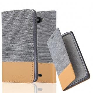 Cadorabo Hülle für BQ Aquaris U / U Lite in HELL GRAU BRAUN - Handyhülle mit Magnetverschluss, Standfunktion und Kartenfach - Case Cover Schutzhülle Etui Tasche Book Klapp Style