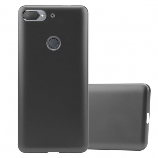 Cadorabo Hülle für HTC Desire 12 PLUS in METALLIC GRAU - Handyhülle aus flexiblem TPU Silikon - Silikonhülle Schutzhülle Ultra Slim Soft Back Cover Case Bumper