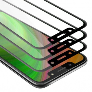 Cadorabo 3x Vollbild Panzer Folie für Motorola MOTO G7 PLAY Schutzfolie in TRANSPARENT mit SCHWARZ 3er Pack Gehärtetes (Tempered) Display-Schutzglas in 9H Härte mit 3D Touch