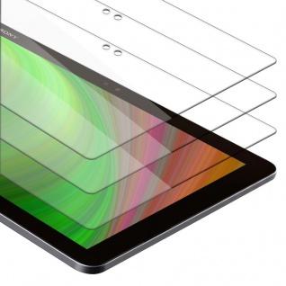 """Cadorabo 3x Panzer Folie für Sony Xperia Tablet Z4 (10.1"""") Schutzfolie in KRISTALL KLAR 3er Pack Gehärtetes (Tempered) Display-Schutzglas in 9H Härte mit 3D Touch Kompatibilität"""