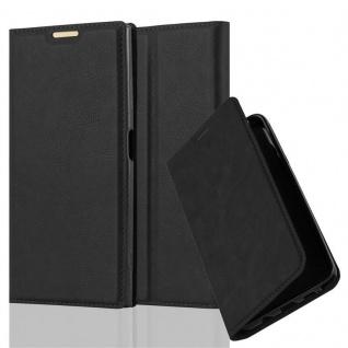 Cadorabo Hülle für Sony Xperia XA1 PLUS in NACHT SCHWARZ - Handyhülle mit Magnetverschluss, Standfunktion und Kartenfach - Case Cover Schutzhülle Etui Tasche Book Klapp Style