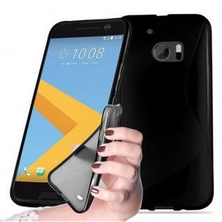 Cadorabo Hülle für HTC 10 (One M10) in OXID SCHWARZ - Handyhülle aus flexiblem TPU Silikon - Silikonhülle Schutzhülle Ultra Slim Soft Back Cover Case Bumper