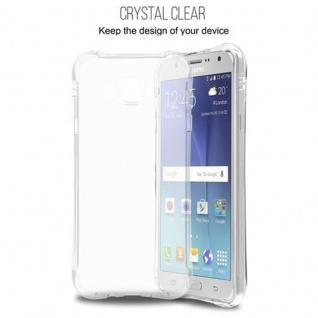 Cadorabo Hülle für Samsung Galaxy J7 2015 (5) - Hülle in KOMPLETT TRANSPARENT - Handyhülle aus TPU Silikon mit Schlaufe im Small Waist Design - Silikonhülle Schutzhülle Ultra Slim Soft Back Cover Case Bumper - Vorschau 3