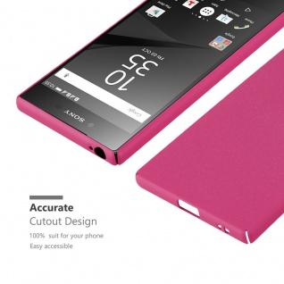 Cadorabo Hülle für Sony Xperia Z5 in FROSTY PINK - Hardcase Handyhülle aus Plastik gegen Kratzer und Stöße - Schutzhülle Bumper Ultra Slim Back Case Hard Cover - Vorschau 5