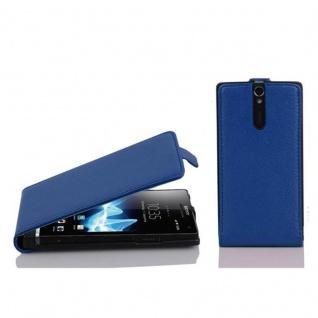 Cadorabo Hülle für Sony Xperia S in KÖNIGS BLAU - Handyhülle im Flip Design aus strukturiertem Kunstleder - Case Cover Schutzhülle Etui Tasche Book Klapp Style