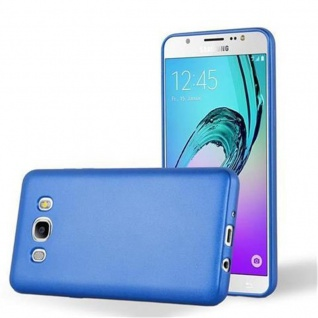 Cadorabo Hülle für Samsung Galaxy J5 2016 in METALLIC BLAU - Handyhülle aus flexiblem TPU Silikon - Silikonhülle Schutzhülle Ultra Slim Soft Back Cover Case Bumper