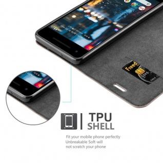 Cadorabo Hülle für Google Pixel 2 in KAFFEE BRAUN - Handyhülle mit Magnetverschluss, Standfunktion und Kartenfach - Case Cover Schutzhülle Etui Tasche Book Klapp Style - Vorschau 2