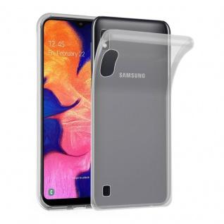 Cadorabo Hülle für Samsung Galaxy A10 in VOLL TRANSPARENT - Handyhülle aus flexiblem TPU Silikon - Silikonhülle Schutzhülle Ultra Slim Soft Back Cover Case Bumper